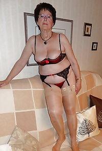 Gran granny mature Lingerie