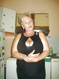 Busty granny Gina