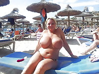 BBW matures and grannies at the beach 301