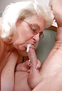 Random Granny and Mature Facial Cumshots