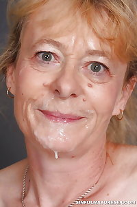 Random Granny and Mature Facial Cumshots