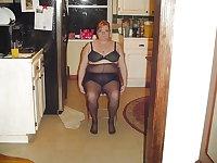 Granny mature milf wearing pantyhose tights 8