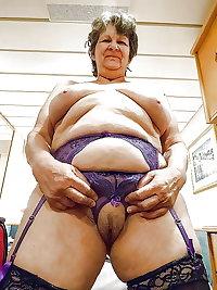 Granny tits stockings