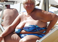 BBW matures and grannies at the beach 307
