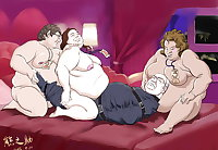 CARTOON - BBW RIDING OLDMAN