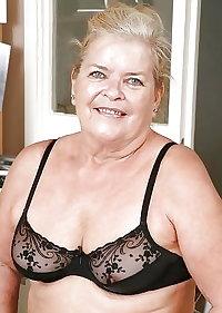 granny in black suspenders