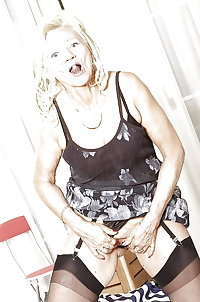 A Little Blonde Shaved Tiny Granny