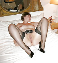 Stockings pantyhose and heels (4)
