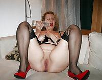 Stockings pantyhose and heels (4)