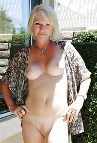 Mature Milfs Showing They're Naked Under Their Summer