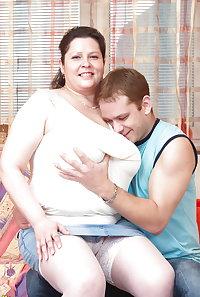 Busty mature mom fucks her son's best friend 1
