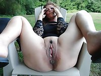 horny granny matures spreading juicy wet pussy