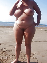BBW matures and grannies at the beach (30)
