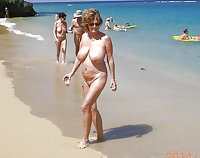 BBW matures and grannies at the beach 174