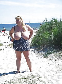 BBW matures and grannies at the beach (56)