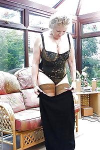 Granny mature milf lingerie 4