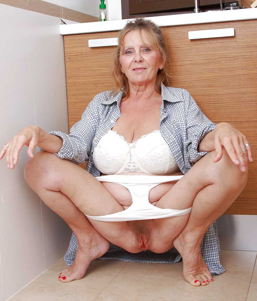 mature old wives panties hairy pussy